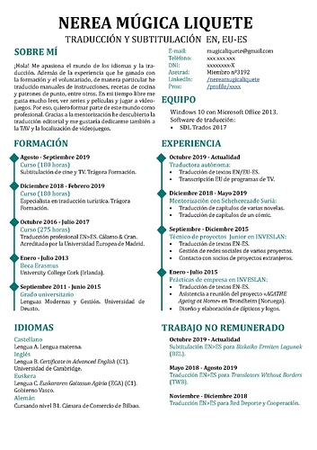 CV_Nerea Mugica_traducción EN, EU-ES